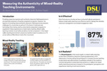 Measuring the Authenticity of Mixed-Reality Teaching Environments by Kevin Smith, Dan Klumper, and Andrew Fiegen